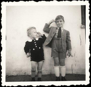 Hans Morgenstern und Cousin Hans Jochi Kohn