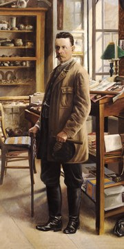 Porträt des Sammlers Johann Krahuletz (© Archiv Krahuletz-Museum).
