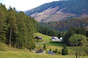 Blick Richtung Ortschaft Lahnsattel (© Elisabeth Vavra)