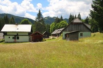 Ehemalige Holzknechtkeuschen am Rand des Terzer Waldes in Donaudörfl (© Elisabeth Vavra)
