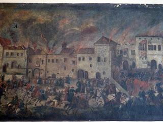 © Einnahme Perchtoldsdorf durch die Osmanen 1683 (Detail), Jakob Dietzinger, 1700; Perchtoldsdorf, Rathaus © Elisabeth Vavra